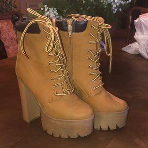 Faux Tim boot heels